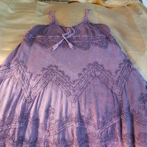 Purple vintage designed dress